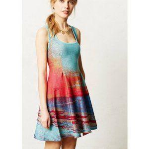 Anthropologie Cecilia Prado Horizons Teal Dress
